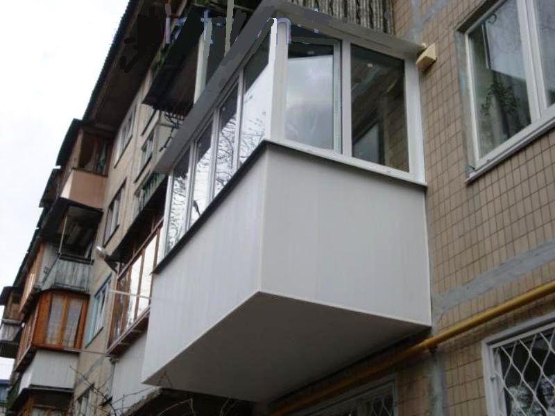Капитальный ремонт балкона с расширением в хрущевке.
